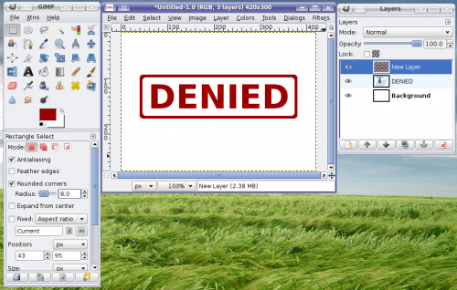 How To Create A Rubber Stamp Effect Using Gimp Regx